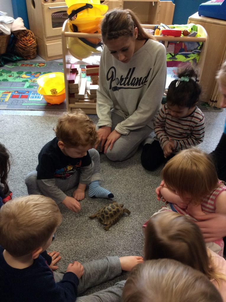 Speedy visits Brindley House Nursery in Beaconsfield as part of World Animal Day