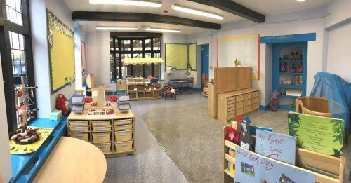 Rocket Space room at Brindley House Nursery in Beaconsfield